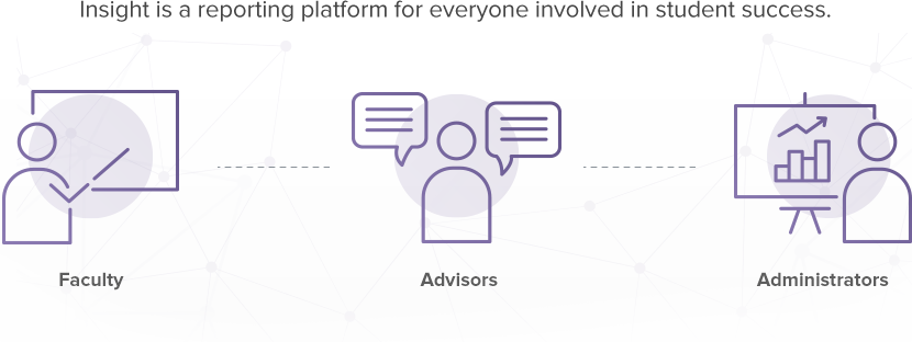 Insight is a reporting platform for everyone involved in student success: faculty, advisors, and administrators.