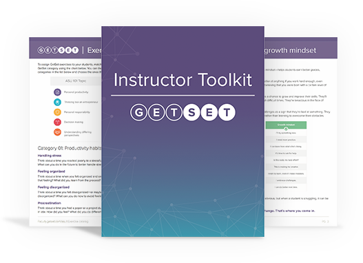 Previews of downloadable PDFs provided as part of GetSet's Professional Development